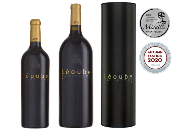 red wine Léoube Collector bottle and magnum