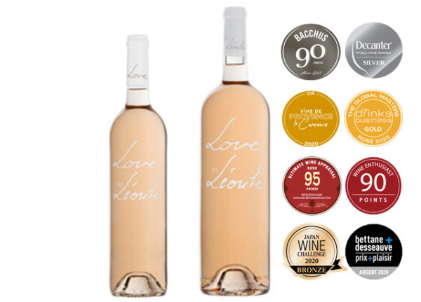 bottle and magnum organic rosé, Love by Léoube, AOC Côtes de Provence