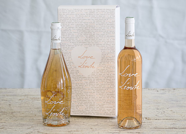 Organic sparkling wine rosé Love by Léoube giftbox